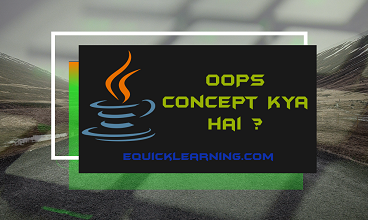 What is OOPs Concept In Hindi ? | OOPs Concept Kya hai?