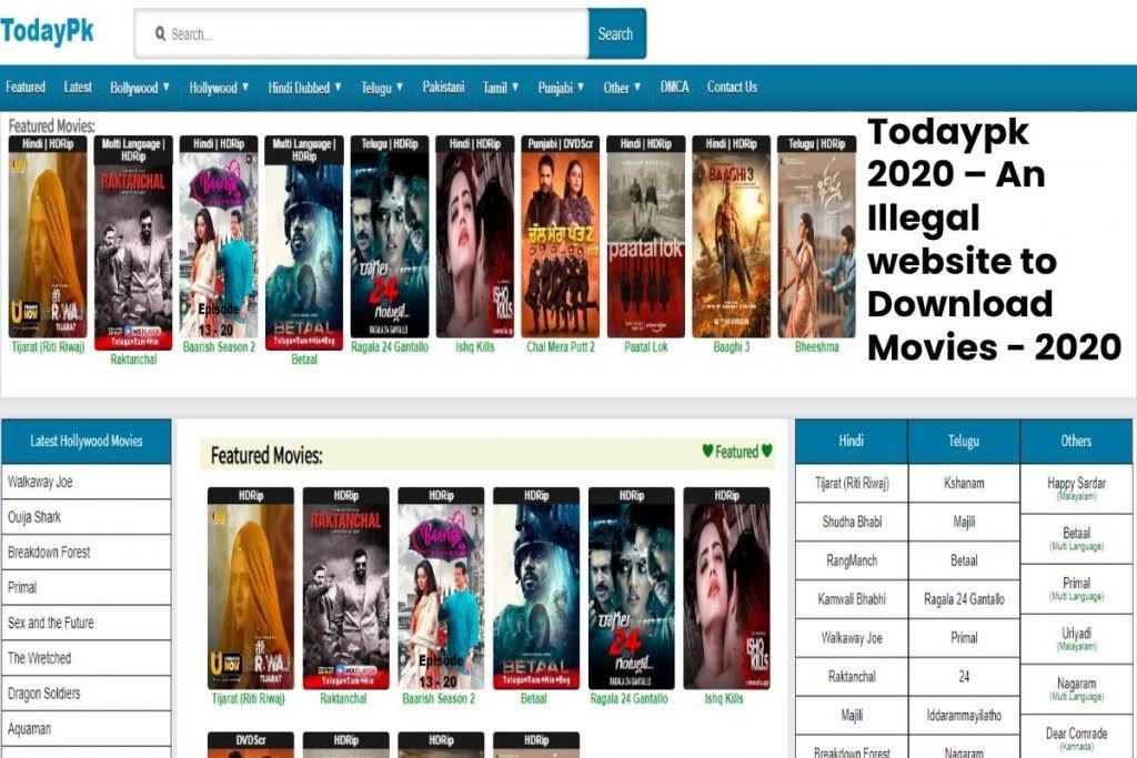 Todaypk Movies Telugu: How To Download Movie From Todaypk.comTodaypk 2020 Website: TodayPk Website-