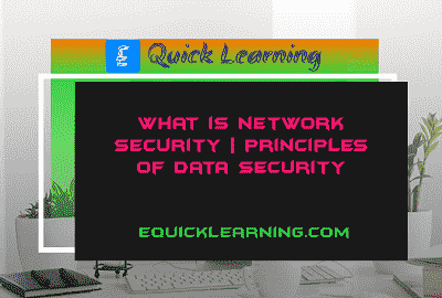 What is Network Security? | Principles of Data Security in Hindi